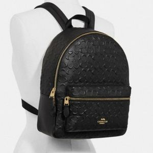 COACH DEBOSSED EMBOSSED SIGNATURE LEATHER BACKPACK